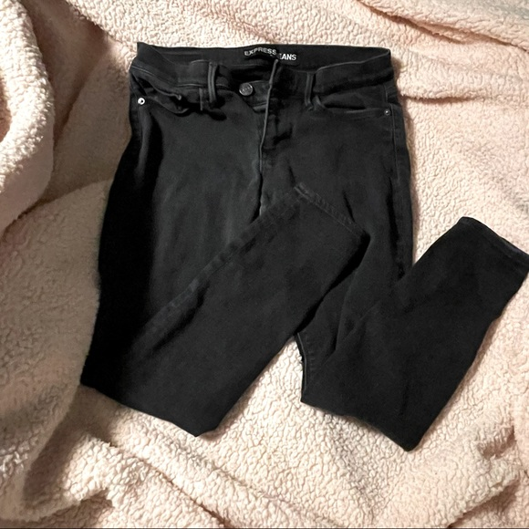 Express Faded Black Jeans size 10 Short